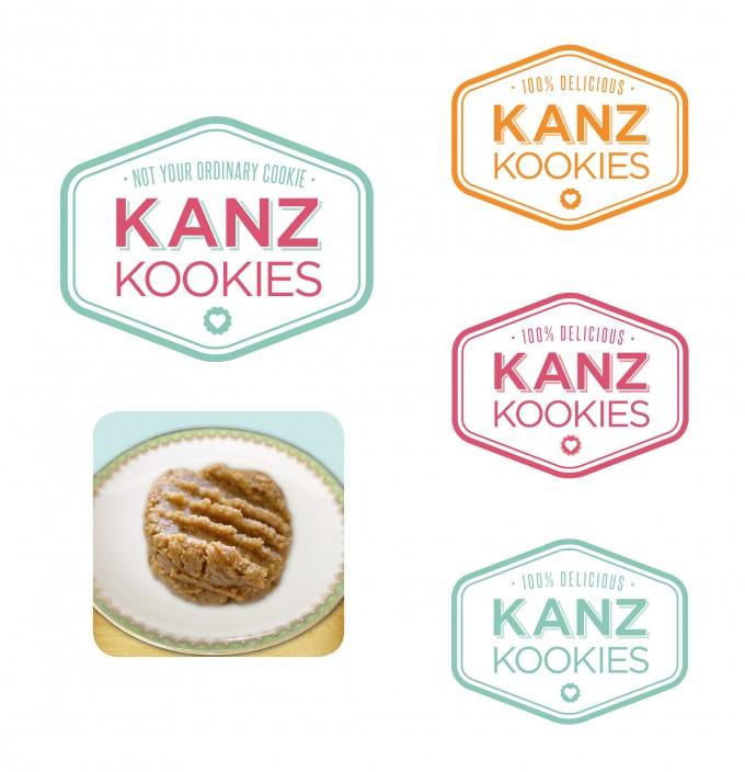 Kanz Kookies logo design